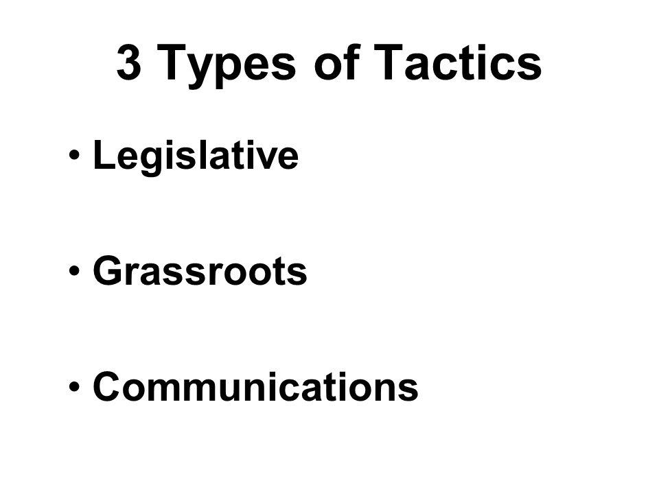 3 Types of Tactics Legislative Grassroots Communications