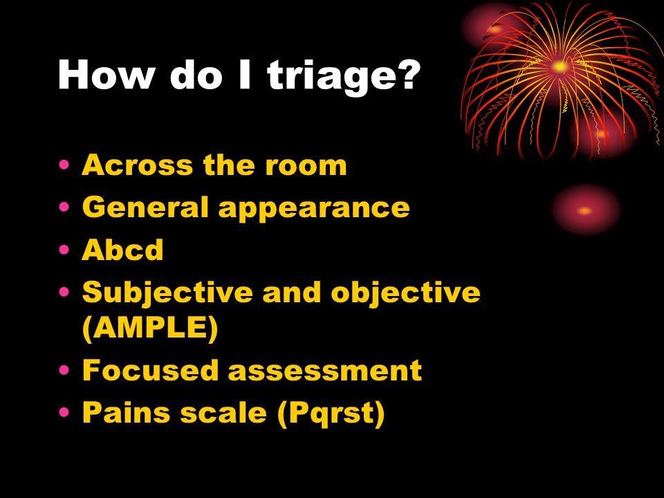 How do I triage.