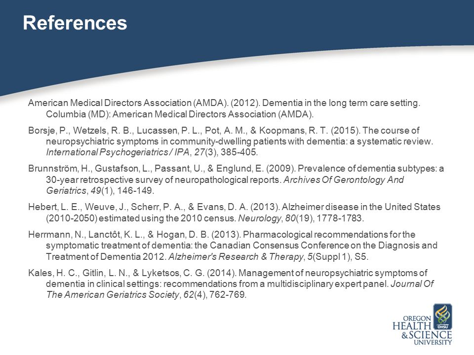 References American Medical Directors Association (AMDA).