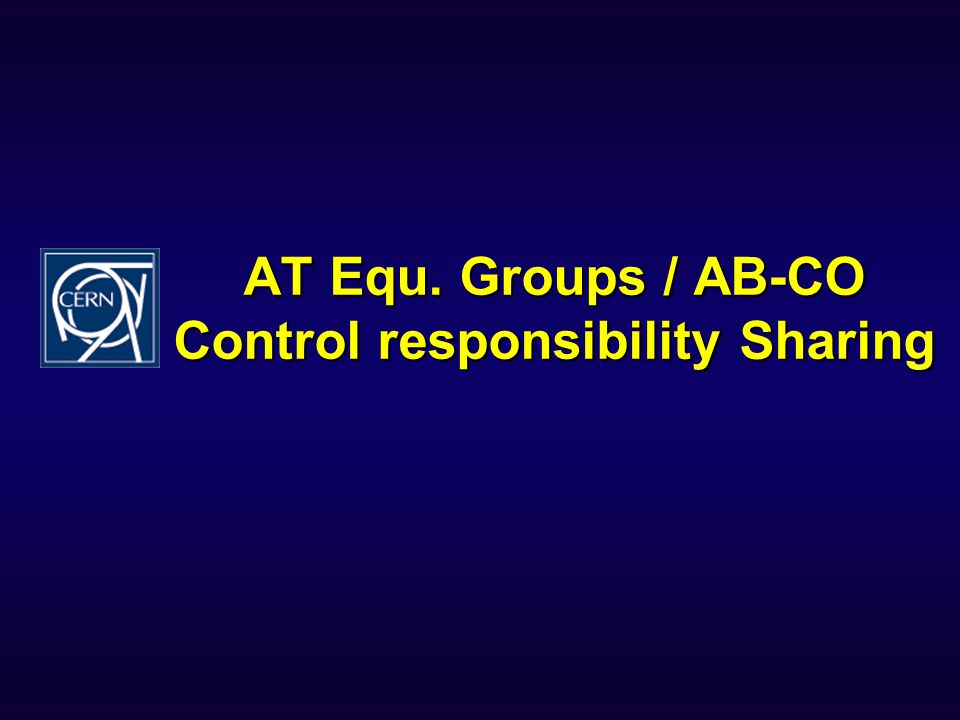 AT Equ. Groups / AB-CO Control responsibility Sharing