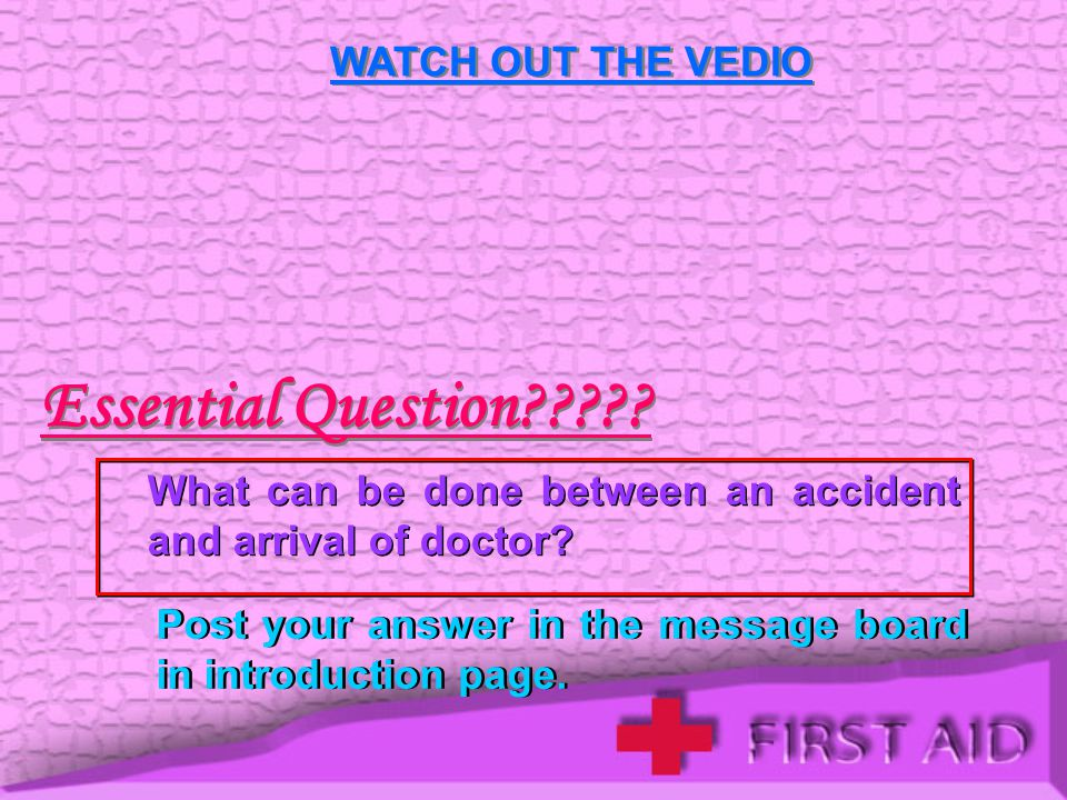 WATCH OUT THE VEDIO Essential Question????.