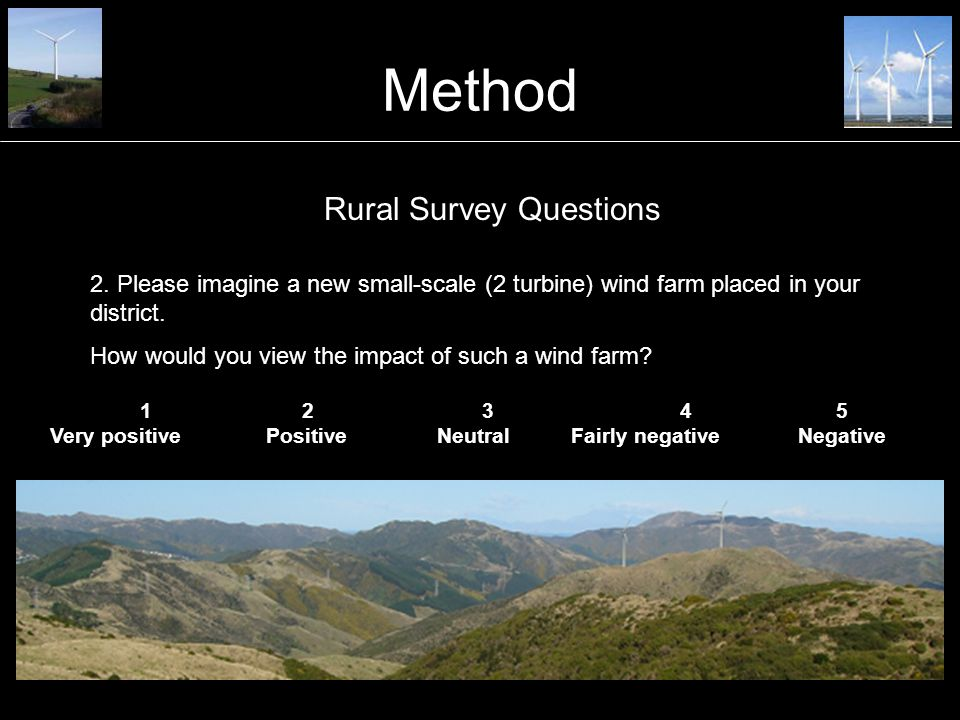 Method 3.Please imagine a new small-scale (14 turbine) wind farm placed in your district.