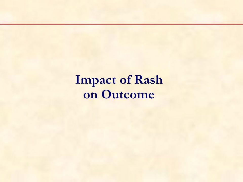 Impact of Rash on Outcome