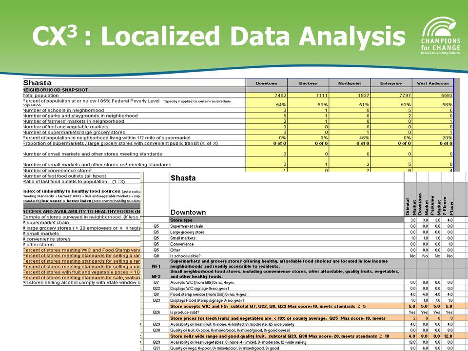 CX 3 : Localized Data Analysis