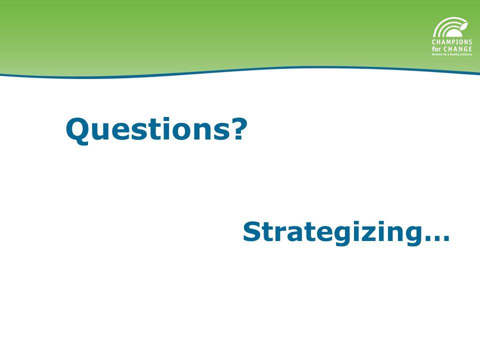 Questions Strategizing…