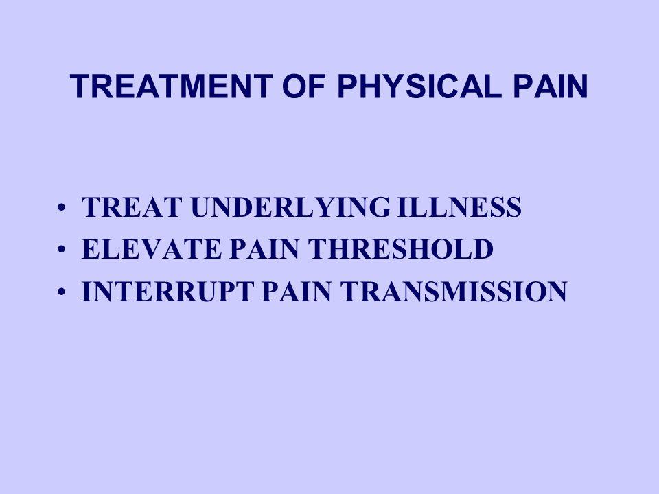 NOCICEPTIVE vs. NEUROPATHIC PAIN