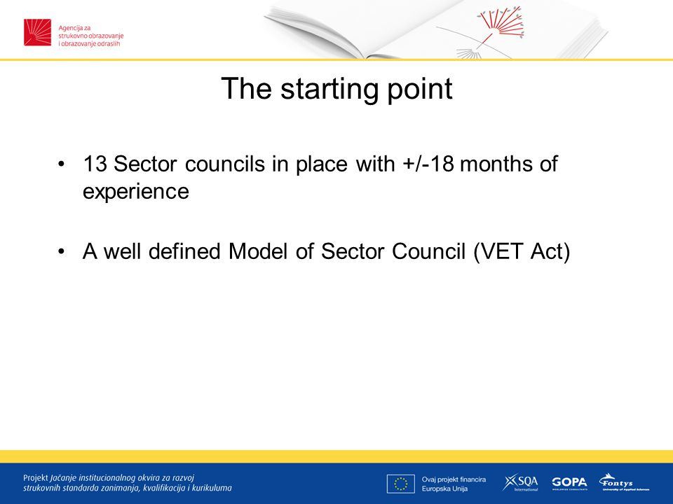 Tasks of the project Task1 - Compare the Sector Council model of Croatia with existing models in the EU
