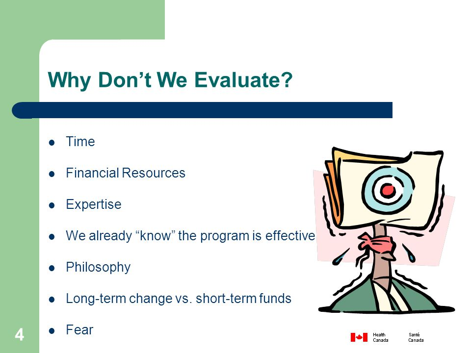 4 Why Don't We Evaluate.