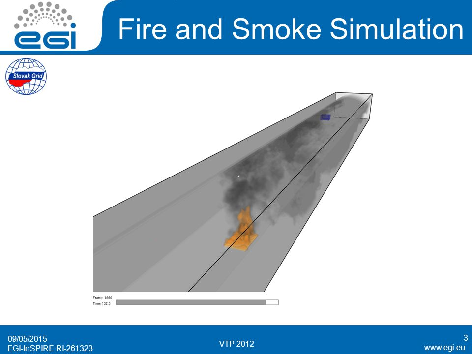 www.egi.eu EGI-InSPIRE RI-261323 Fire and Smoke Simulation 09/05/2015 VTP 2012 3