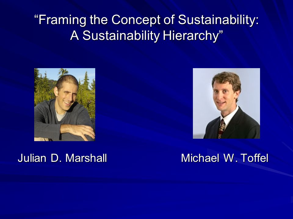 Holland's Conclusion The real importance of sustainability may lie in providing a new conceptual context within which issues of growth and environment can be debated, and in provoking us to reassess our notions of quality of life and environment.