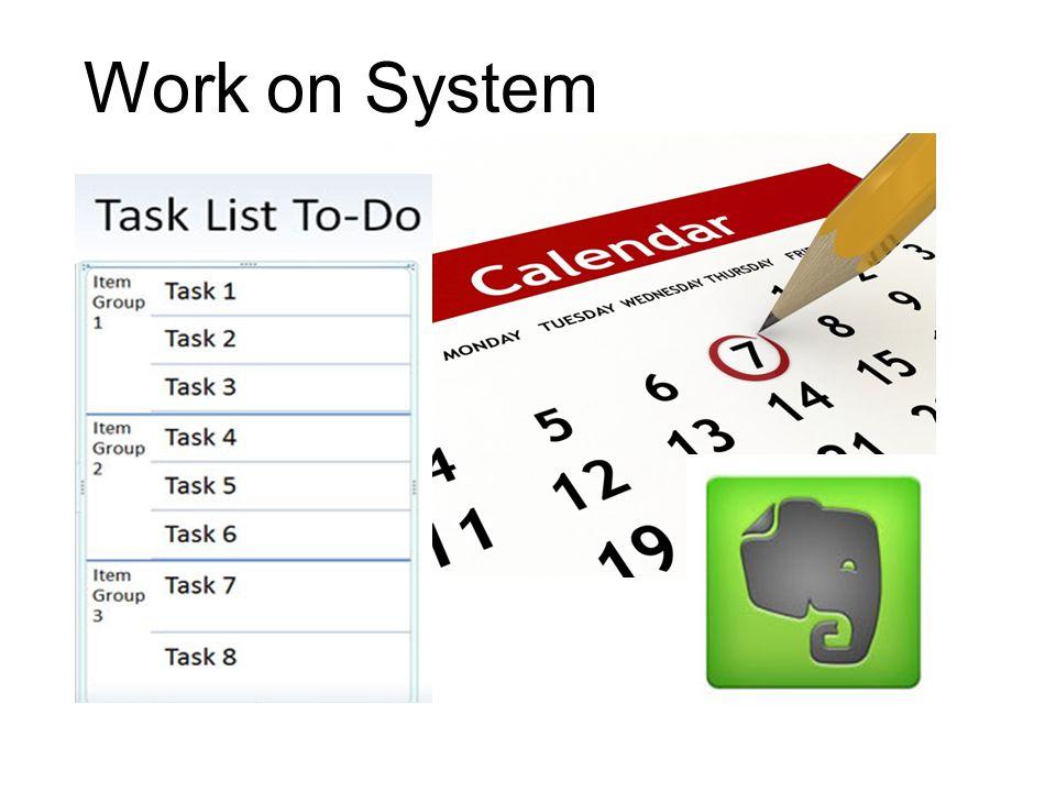 Declutter Work on System Reassess Goals
