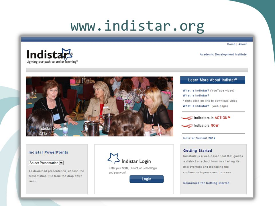 Indistar Page Design Updates Before After
