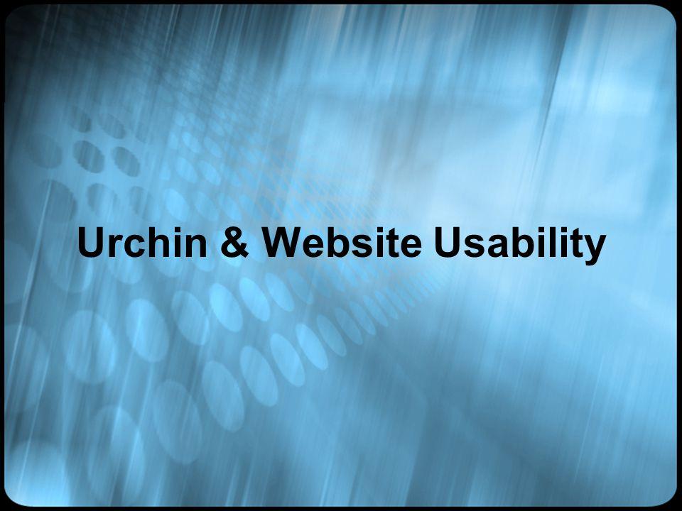 Urchin & Website Usability