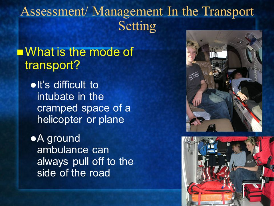 What is the mode of transport.