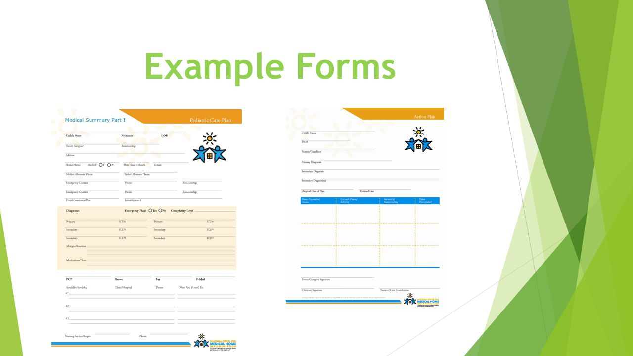 Example Forms