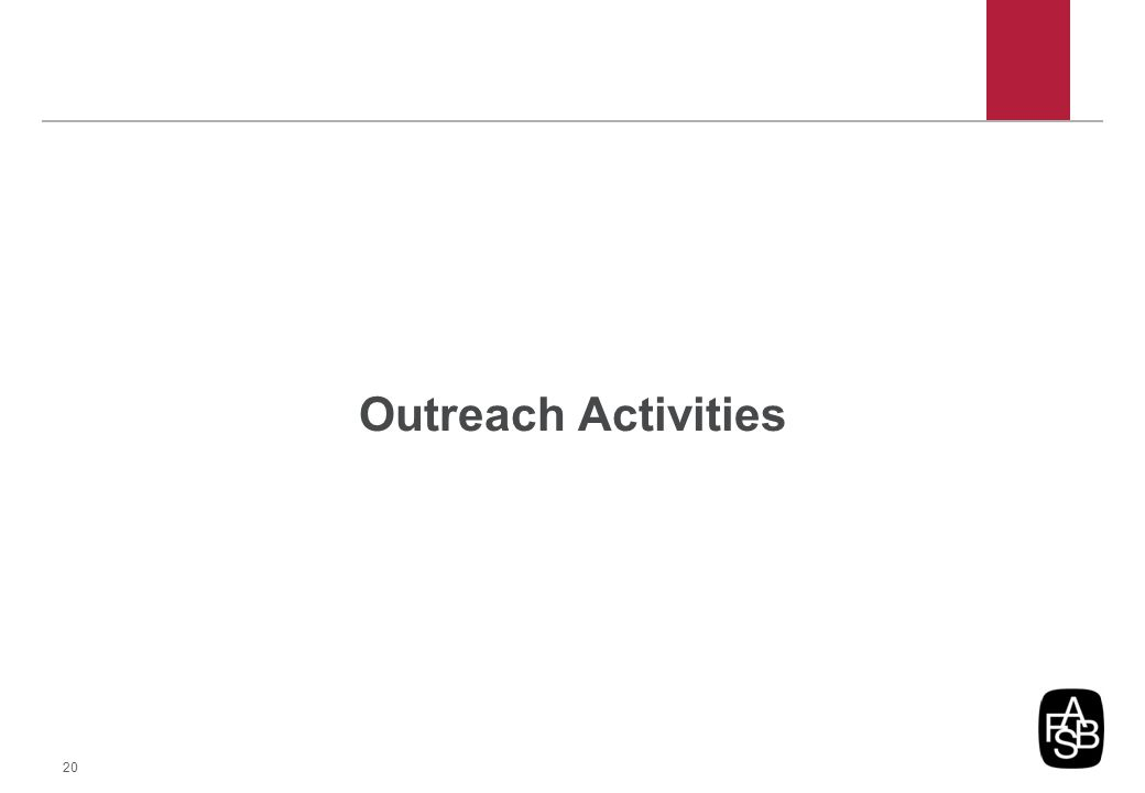 Outreach Activities 20