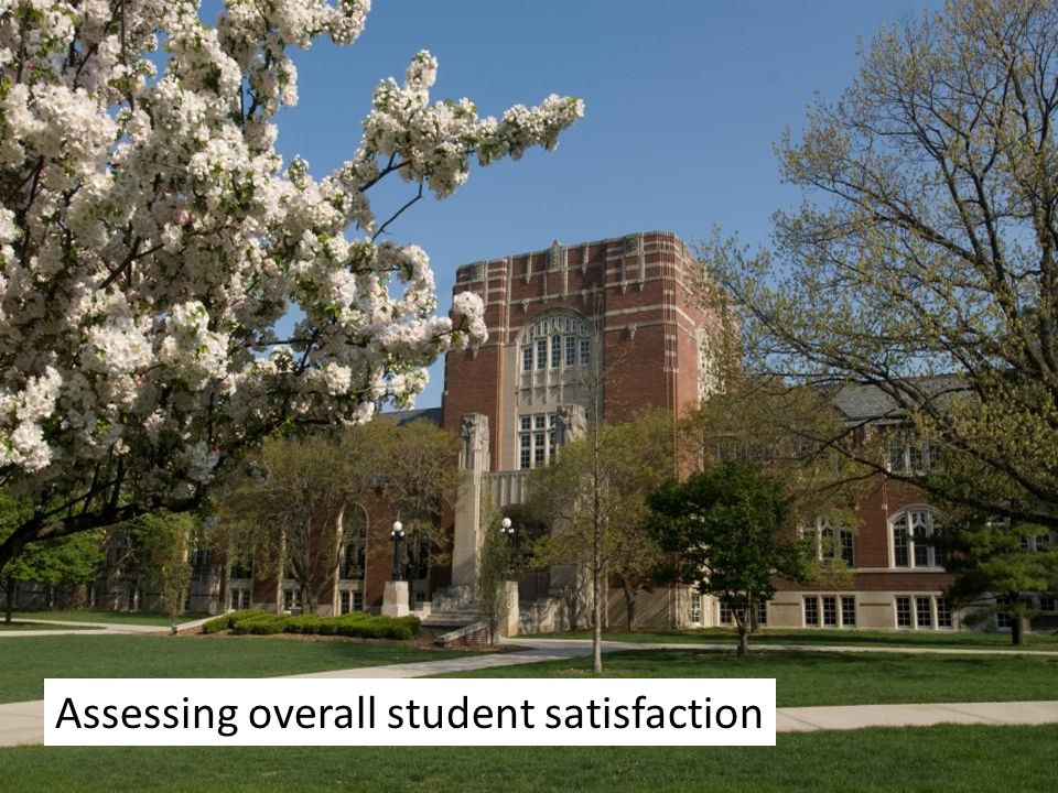 Assessing overall student satisfaction