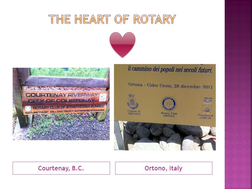 Courtenay, B.C.Ortono, Italy