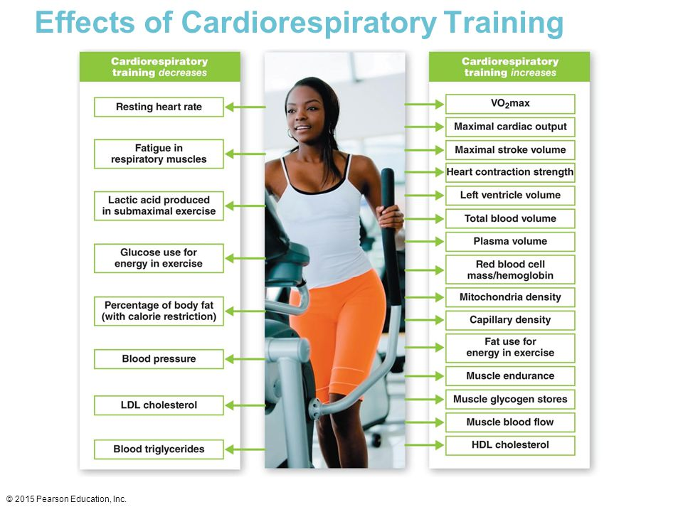 Effects of Cardiorespiratory Training © 2015 Pearson Education, Inc.
