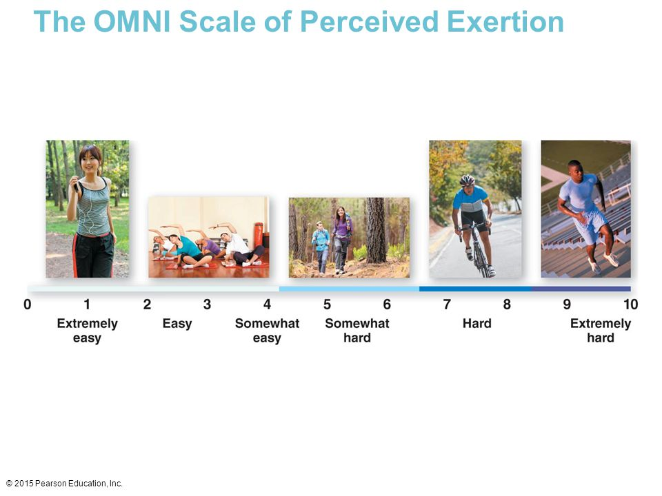The OMNI Scale of Perceived Exertion © 2015 Pearson Education, Inc.