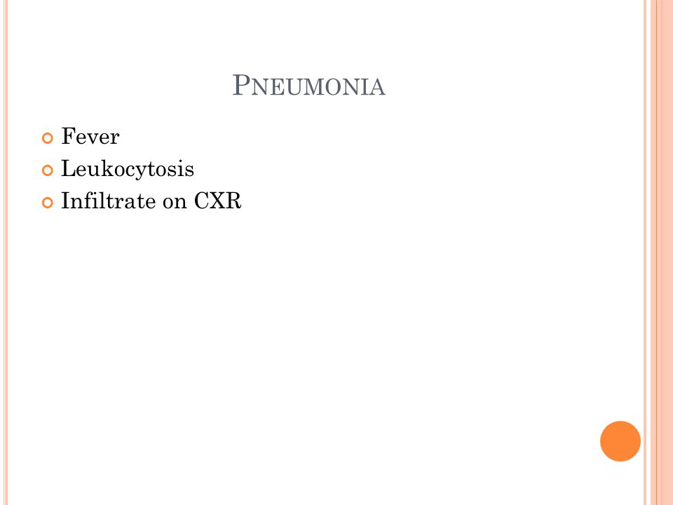 H OSPITAL A CQUIRED P NEUMONIA Category of pneumonia that occurs 48 hours or more after admission Encompasses healthcare associated pneumonia and ventilator associated pneumonia