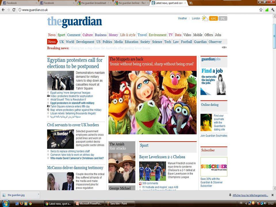  Capture d'écran site web