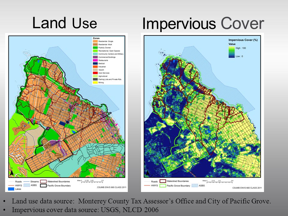 Land Use Land use data source: Monterey County Tax Assessor's Office and City of Pacific Grove.