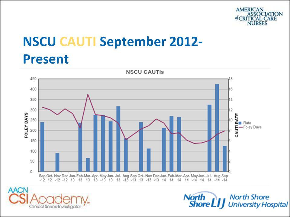 NSCU CAUTI September 2012- Present