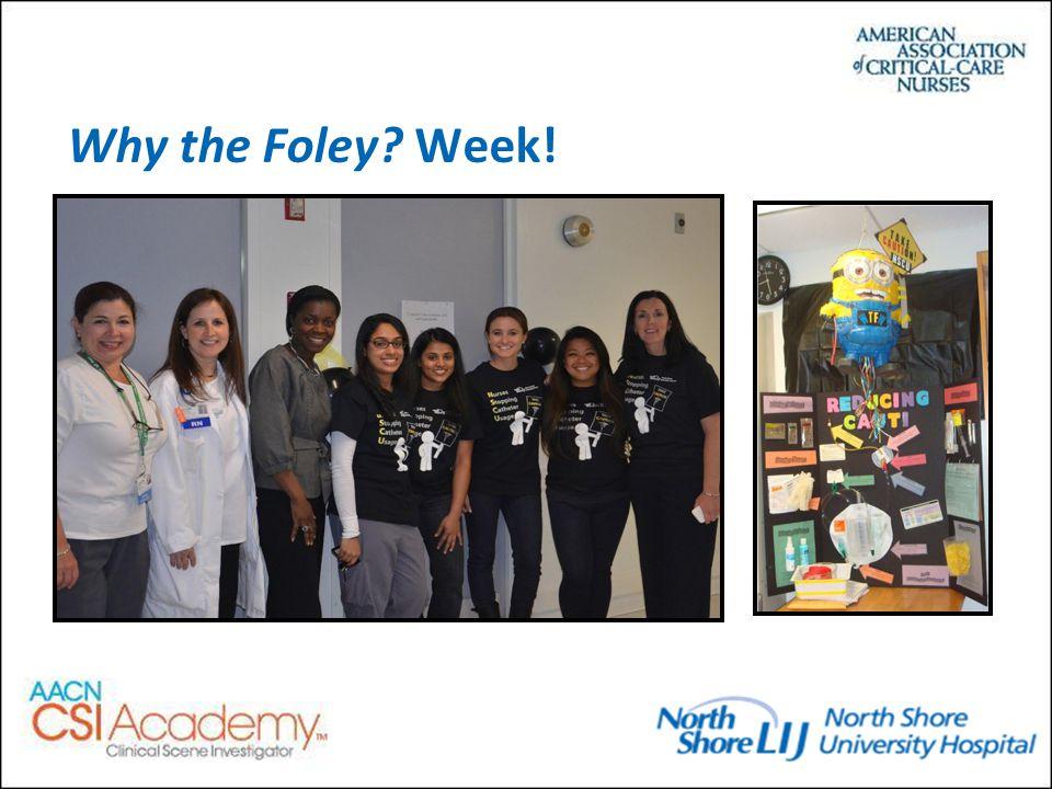 Why the Foley Week!