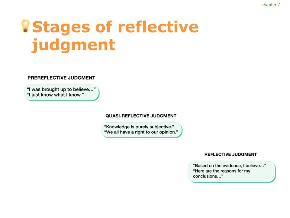 Stages of reflective judgment chapter 7