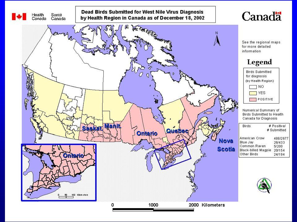 Quebec Ontario Manit. Saskat. Ontario NovaScotia