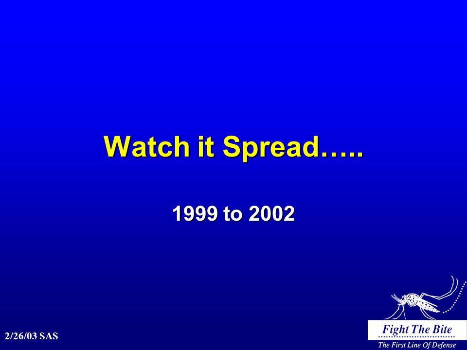 2/26/03 SAS Watch it Spread….. 1999 to 2002
