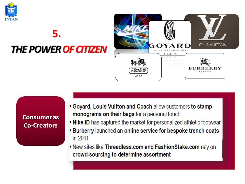 THE POWER OF CITIZEN Consumer as Co-Creators 5.