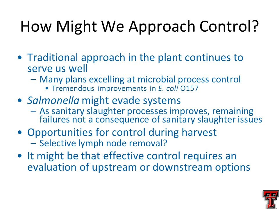 How Might We Approach Control.