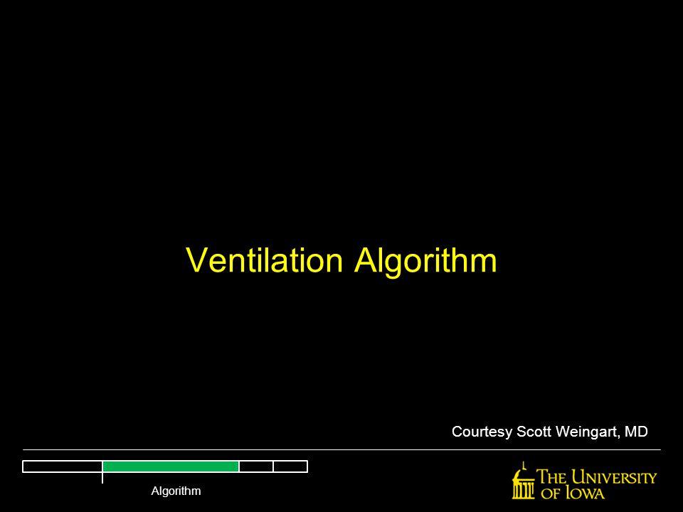 Ventilation Algorithm Courtesy Scott Weingart, MD Algorithm