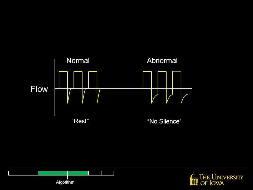 "NormalAbnormal Flow ""Rest"" ""No Silence"" Algorithm"