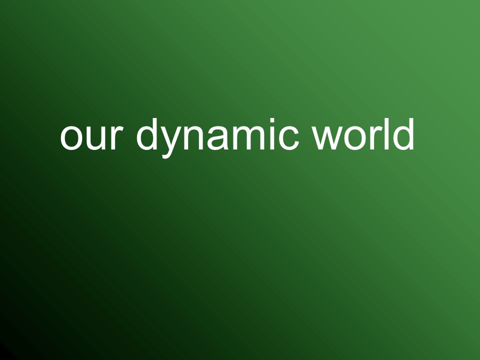 our dynamic world