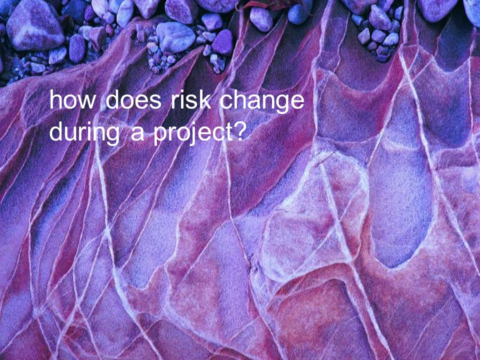 Project Management Change Management how does risk change during a project?