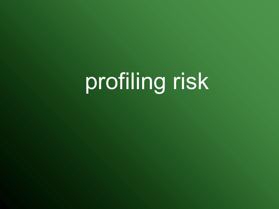 profiling risk