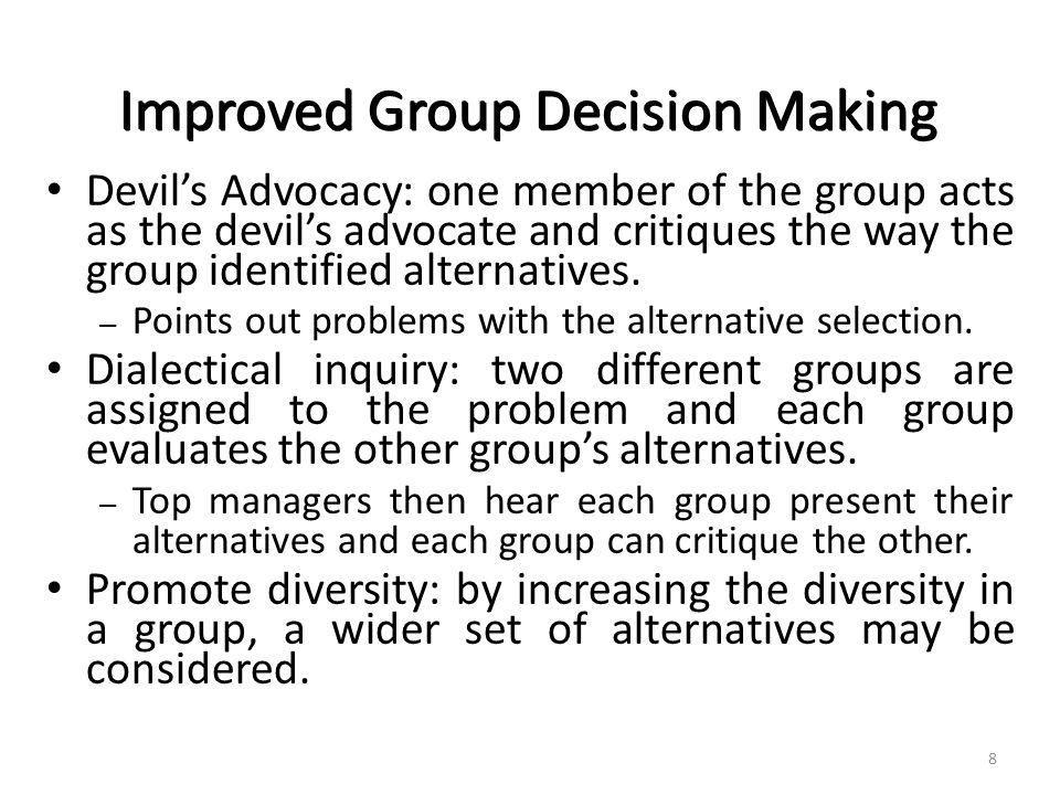 Devil's Advocacy v.