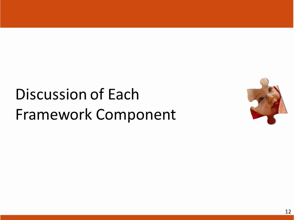 Discussion of Each Framework Component 12