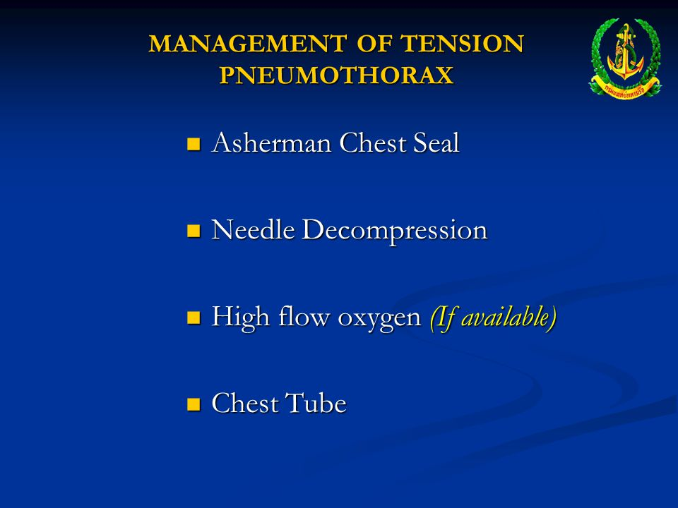 JVD & TRACHEAL SHIFT Increased pressure moves mediastinum and compresses the lung on the uninjured side