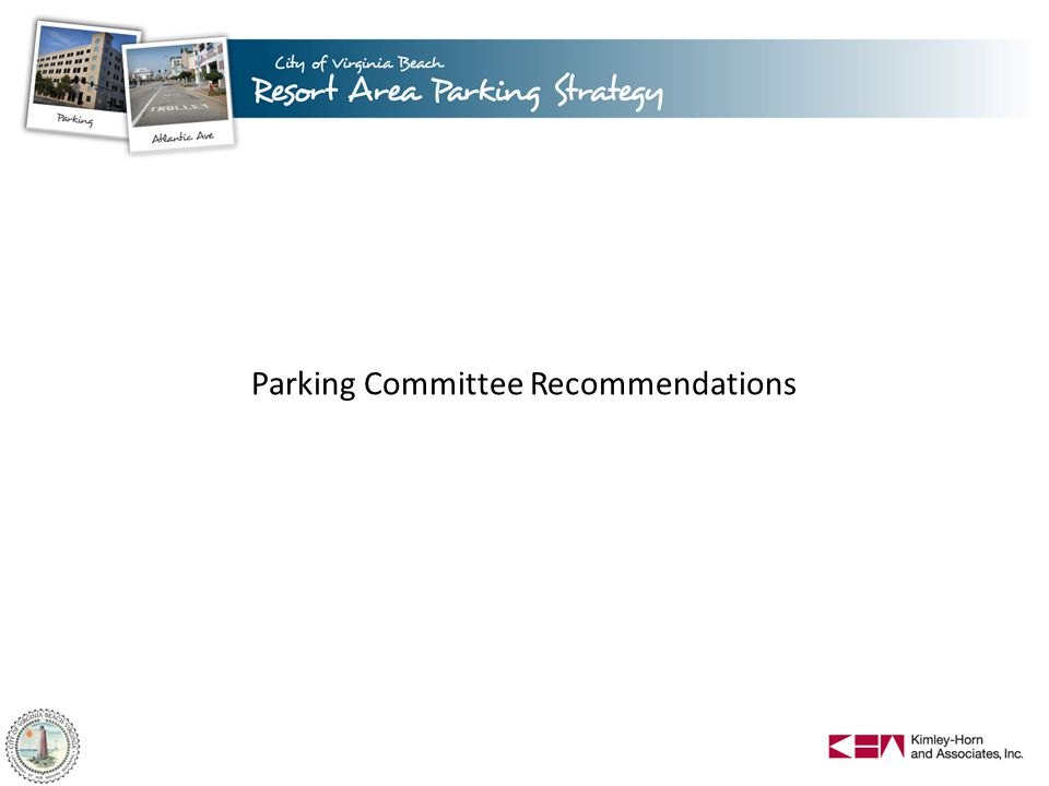 Parking Committee Recommendations