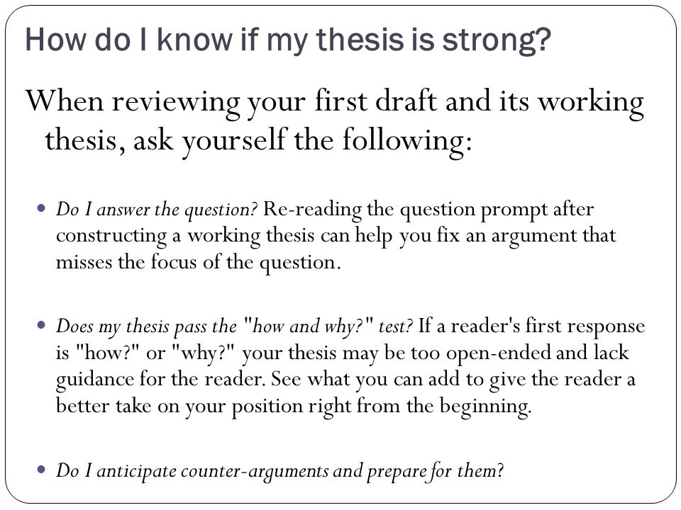 why do writers include thesis statement Writing a paper: thesis statements print page report a broken link the thesis statement is the brief articulation of your paper's central argument and purpose.
