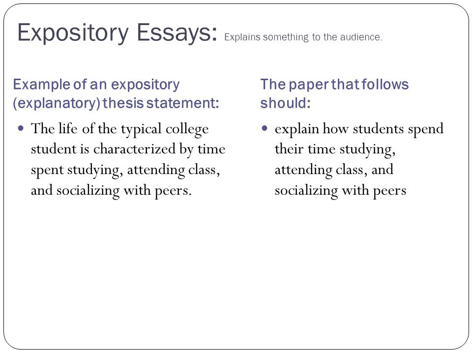 how to write an expository essay example
