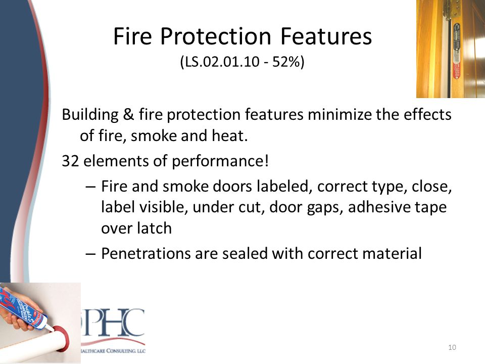 Fire Doors, cont Inspect and maintain fire doors – Appropriate fire rating on doors and frame – Door positively latches – Door had a closure – No gaps > 1/8 inch, or undercut >3/4 inch – Resulted in ITL if multiple problems 11