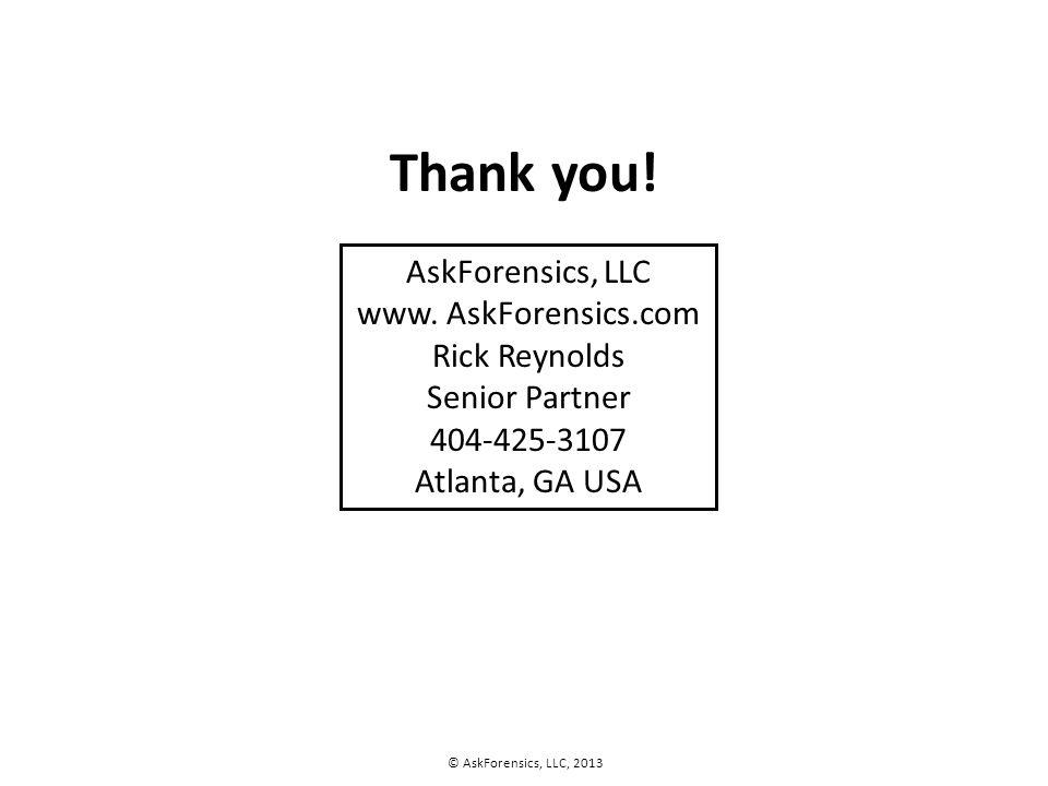 AskForensics, LLC www.