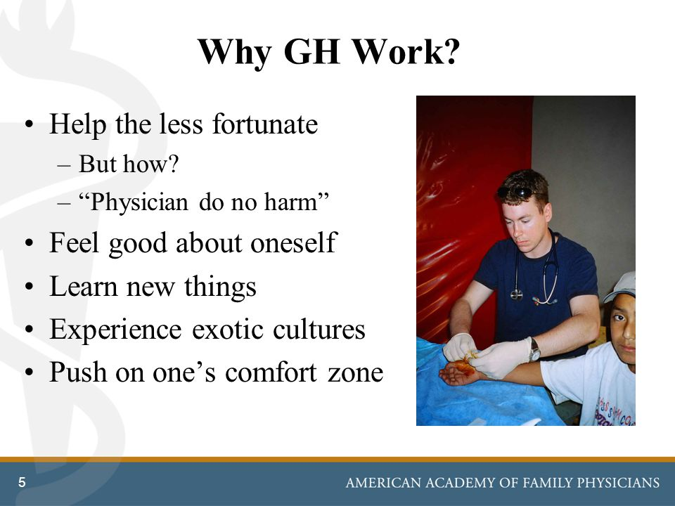 Why GH Work. Help the less fortunate –But how.