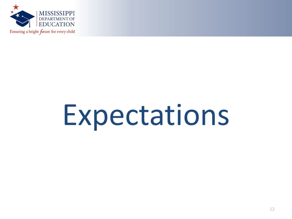 Expectations 13
