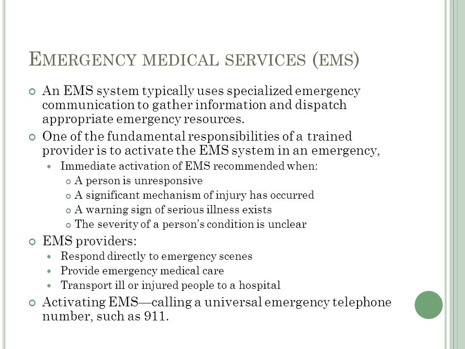 E MOTIONAL CONSIDERATION Caring for someone in an emergency can create emotional distress.